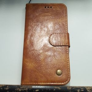 Wallet case for samsung galaxy s10 color brown new